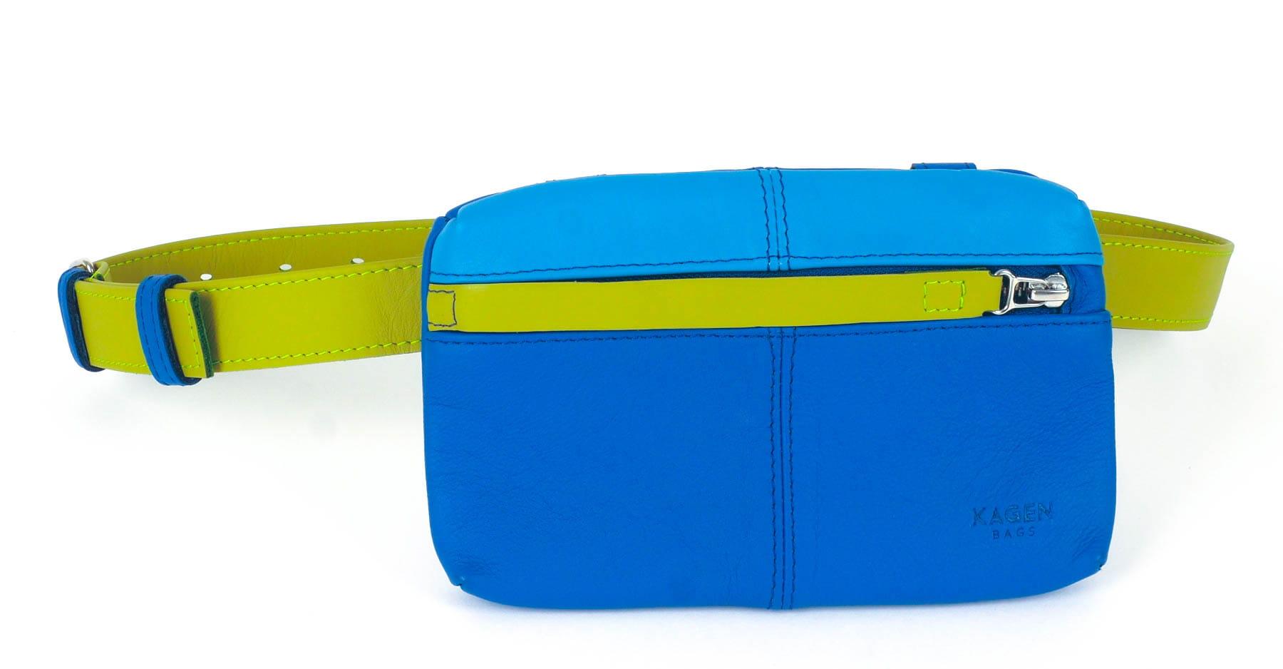 52d3083661fcb Torebka biodrówka/mini torebka YOKO chaber/błękit Kagenbags